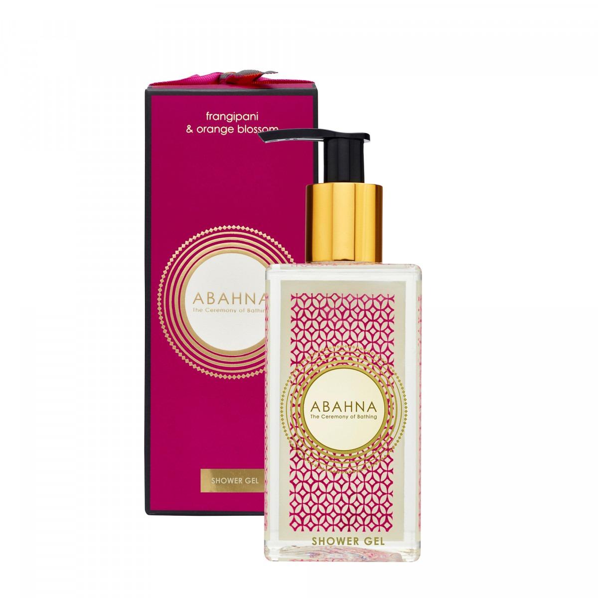 Abahna frangipani & orange blossom shower gel 250ml