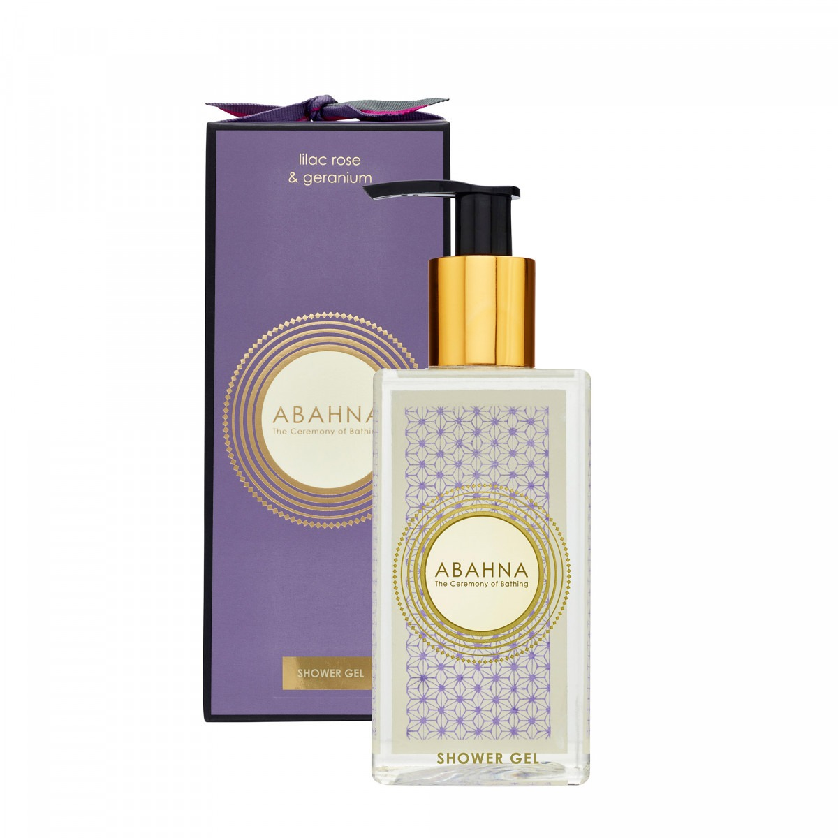 Abahna lilac rose & geranium shower gel 250ml