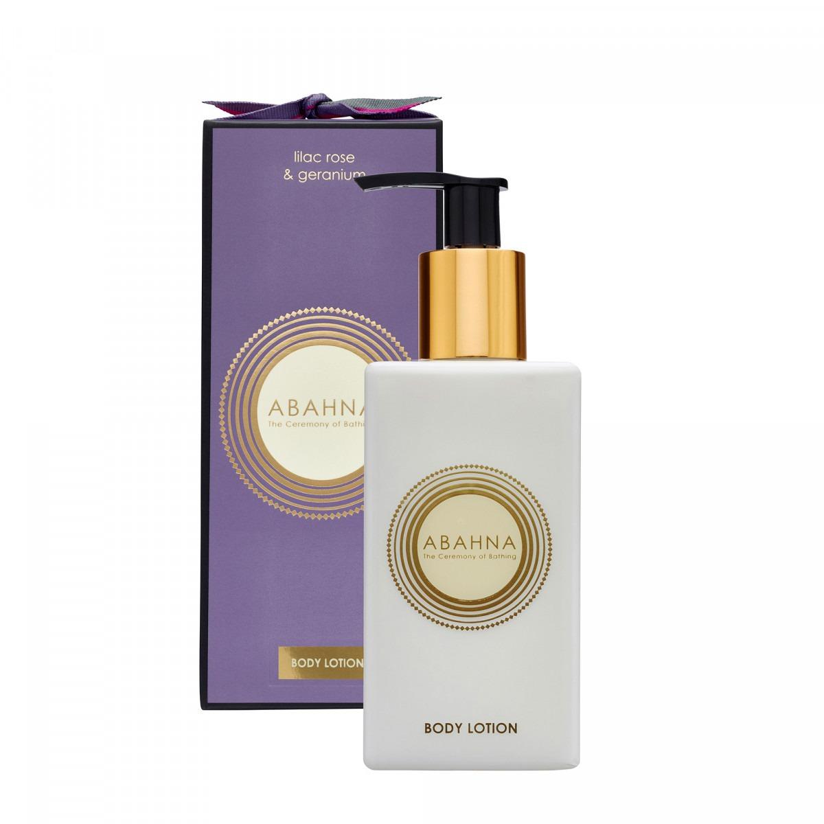 Abahna lilac rose & geranium body lotion 250ml