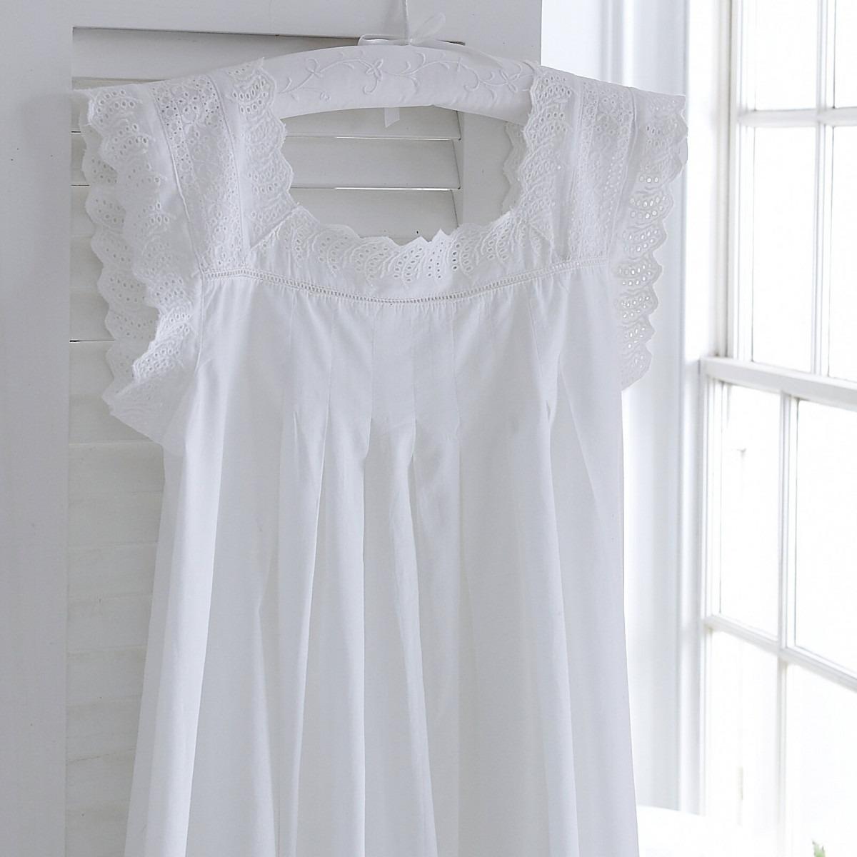 Athena White Cotton Nightdress