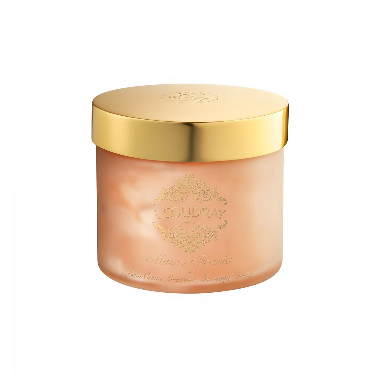 E. Coudray bath mousse glass jar musc et freesia 250ml