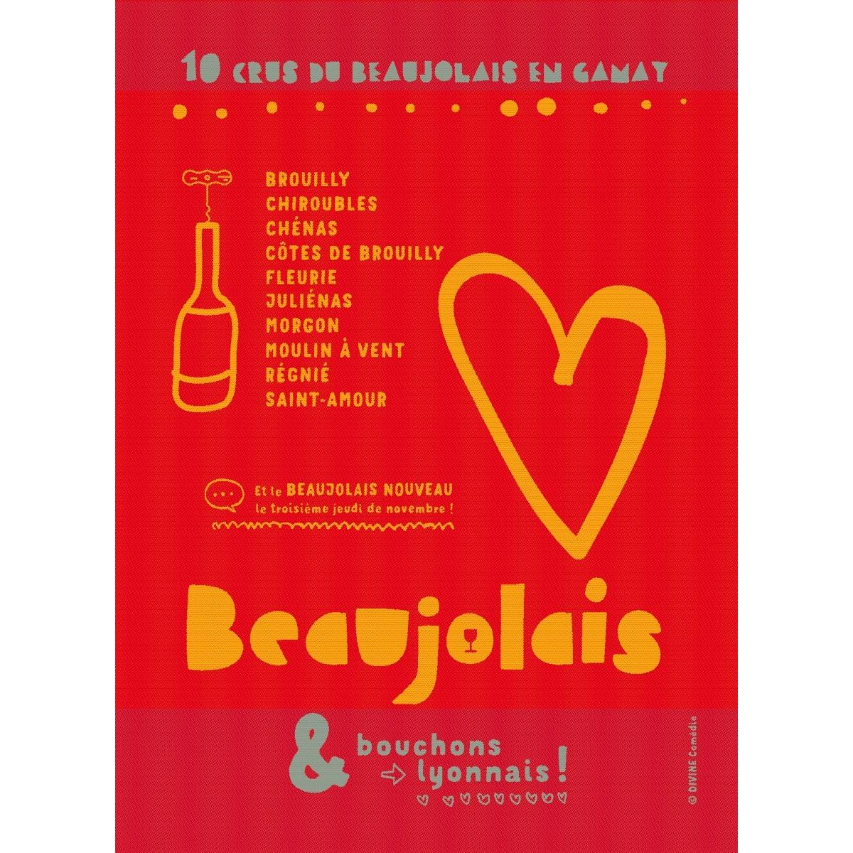 Moutet Tea Towel Beaujolais