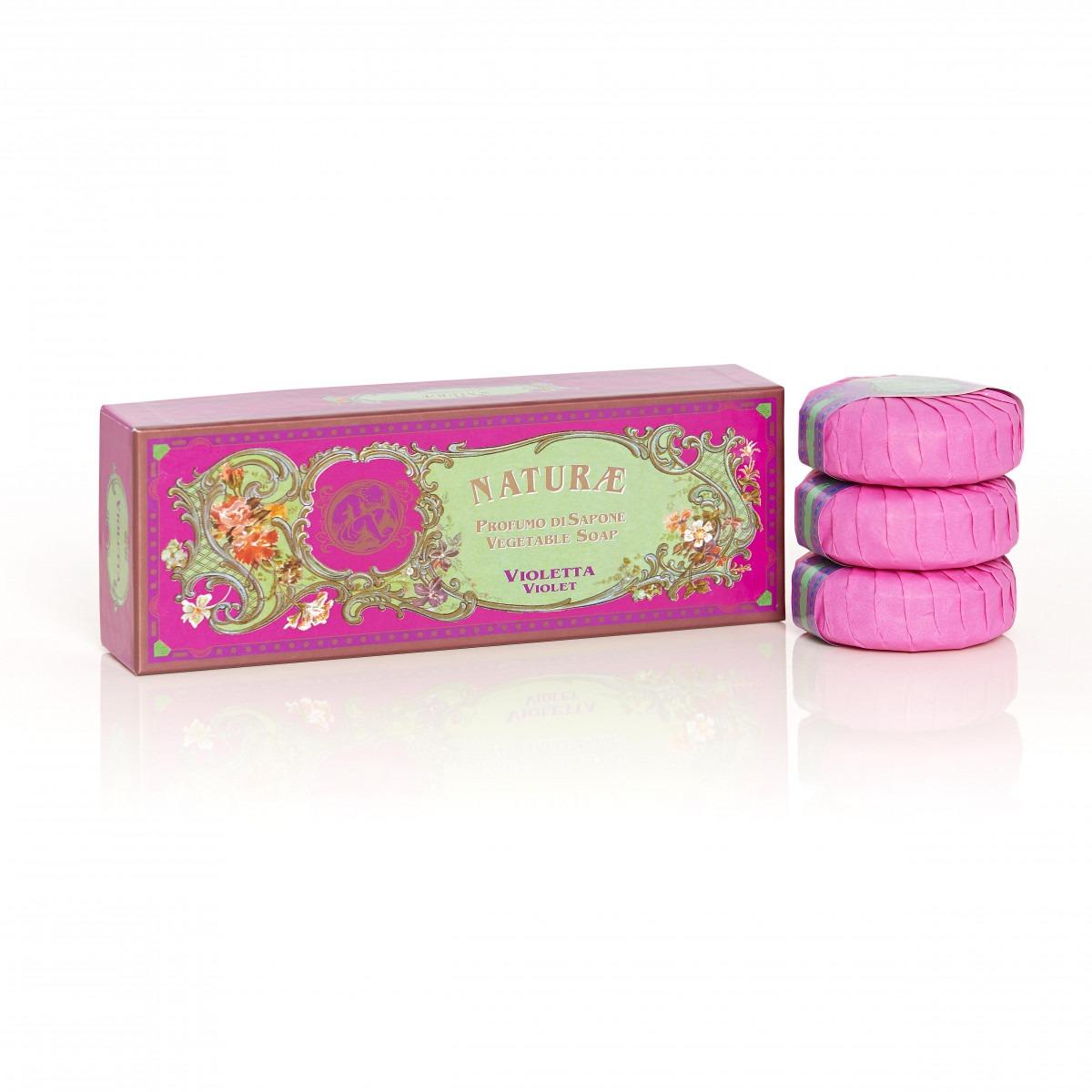 Naturae By Franco Zarri Violet Box Of 3 Soaps