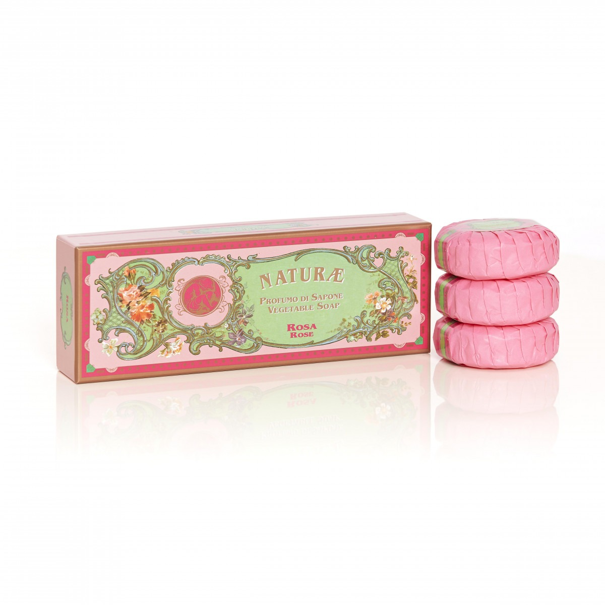 Naturae By Franco Zarri Rose Box Of 3 Soaps