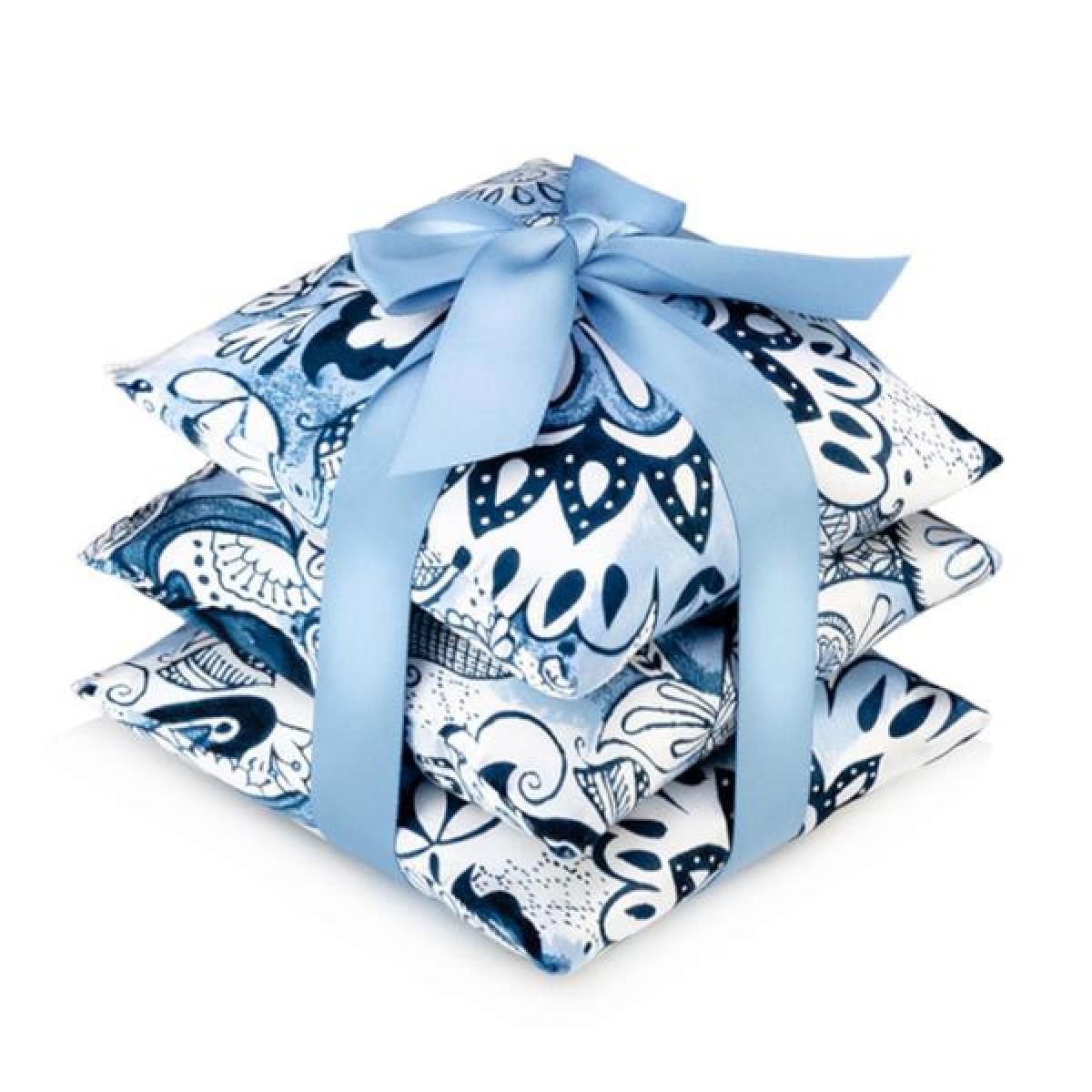 Delft Silk Scented Sachet Set