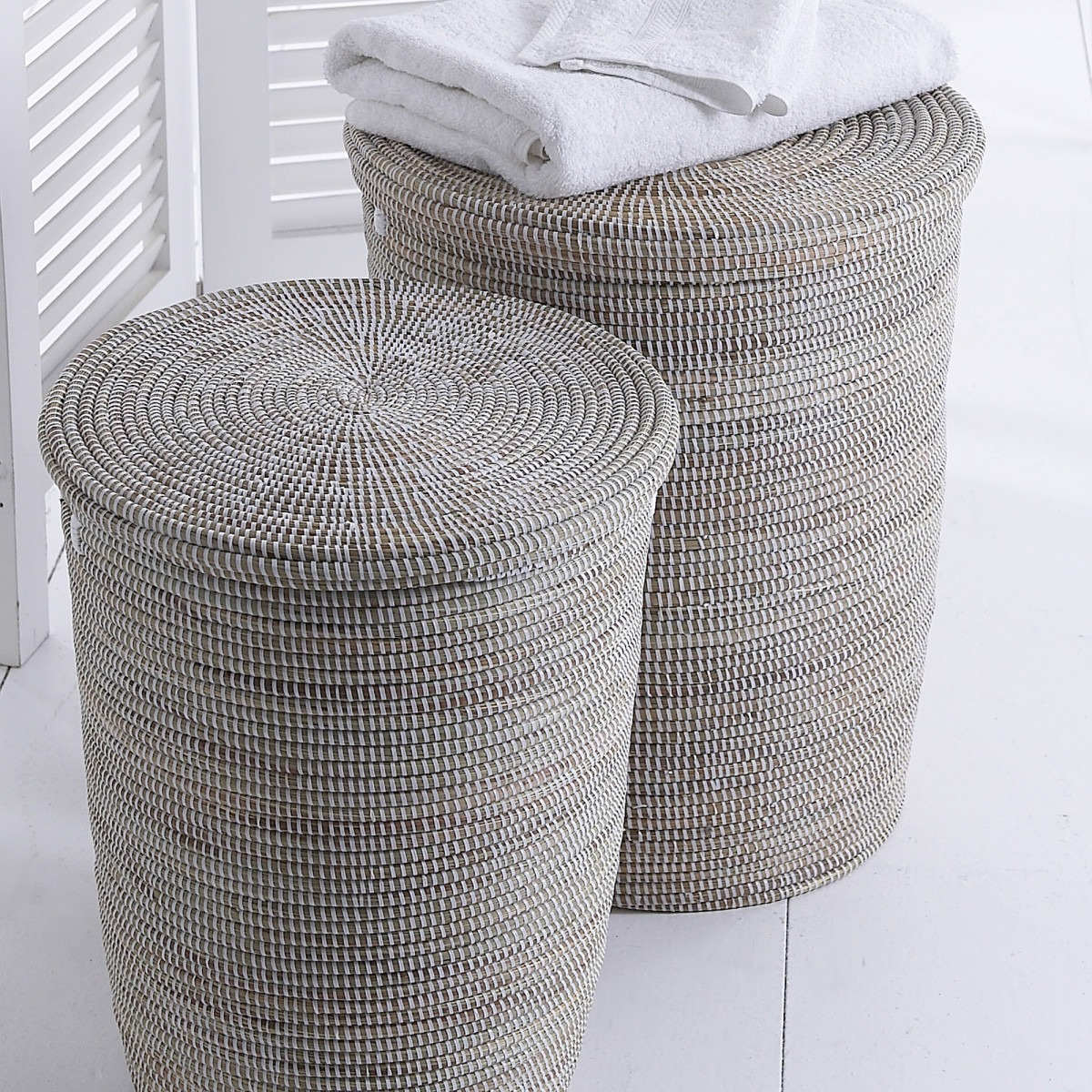 Black And Natural Woven Baskets