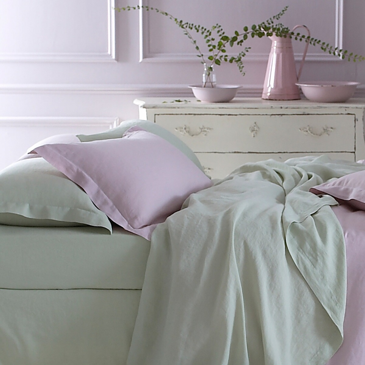 Pure Washed Linen Pistachio Green