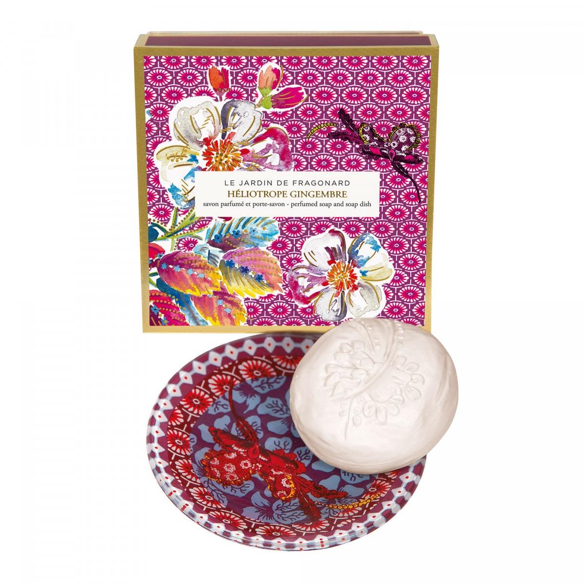 Fragonard Heliotrope Soap & Soap Dish