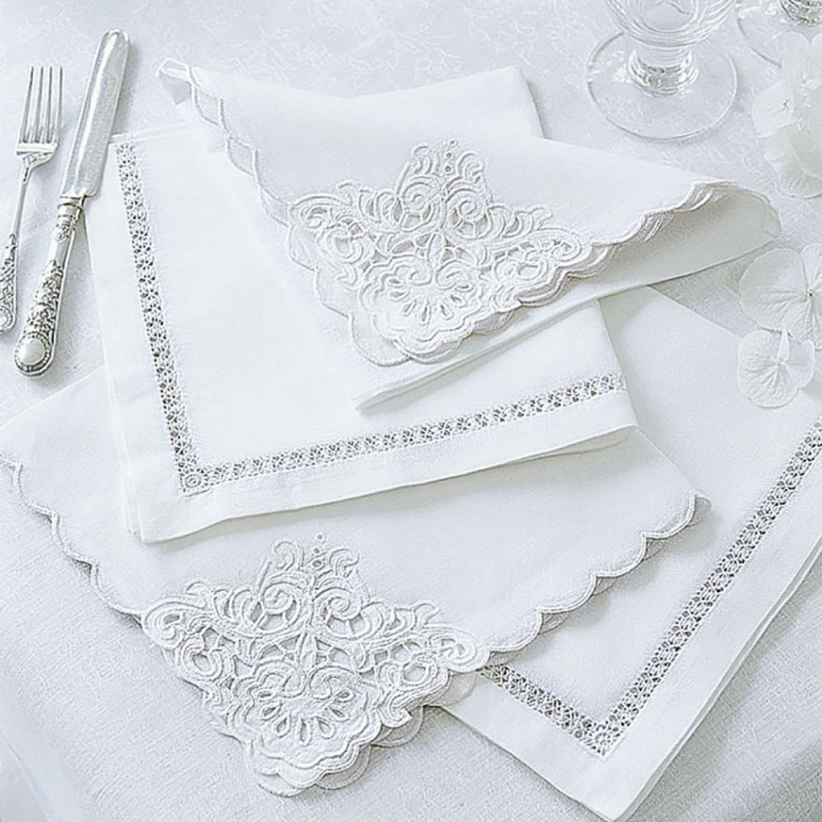 Linen Cotton Mix Embroidered Napkins