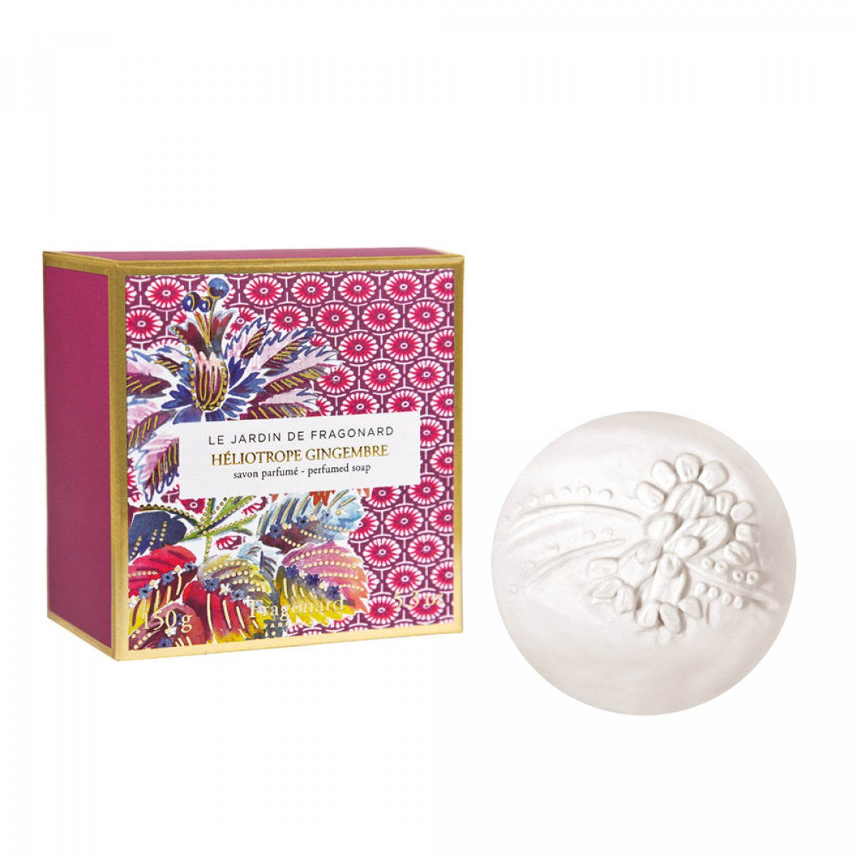 Le Jardin De Fragonard Heliotrope - Gingembre 150g soap