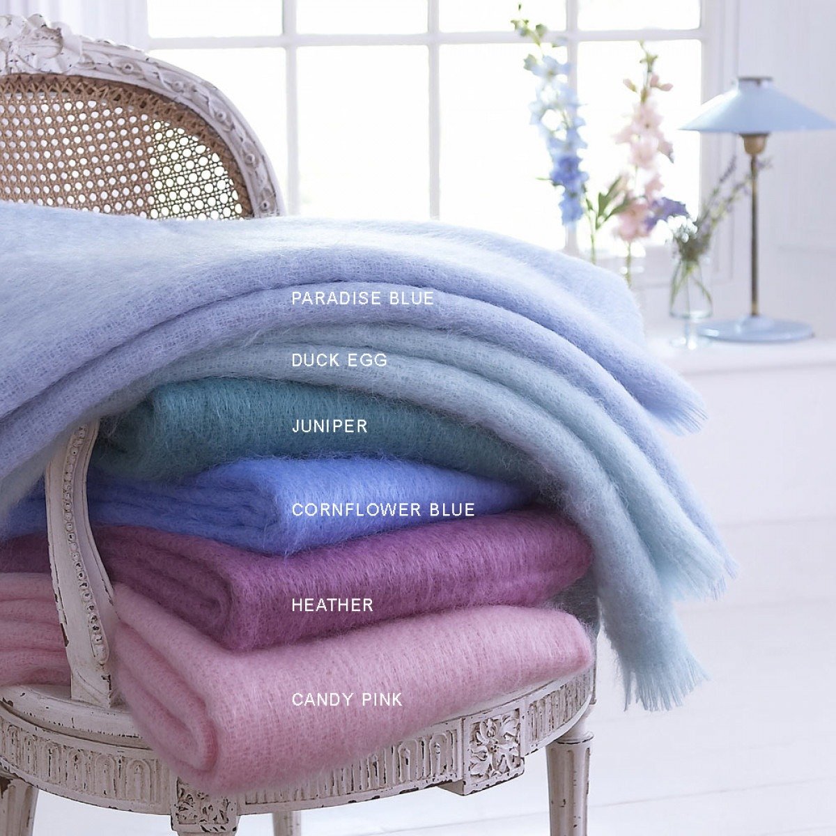 Mohair Throw Jewel Colour