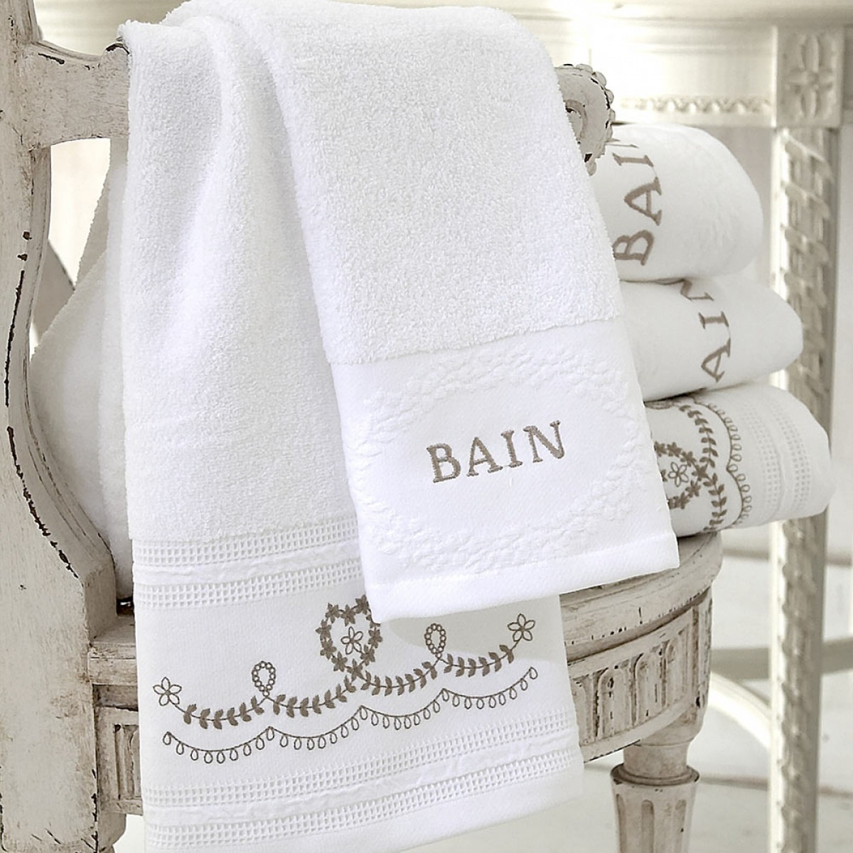 Odette Faded Gold Hand And Guest Towels