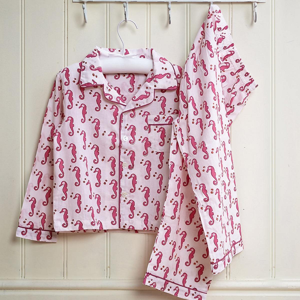 Pink seahorses pyjamas