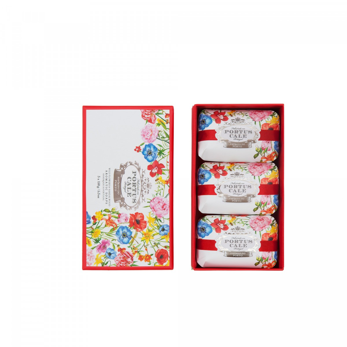 Portus Cale Blooming Garden Boxed Soaps 3 x 150g