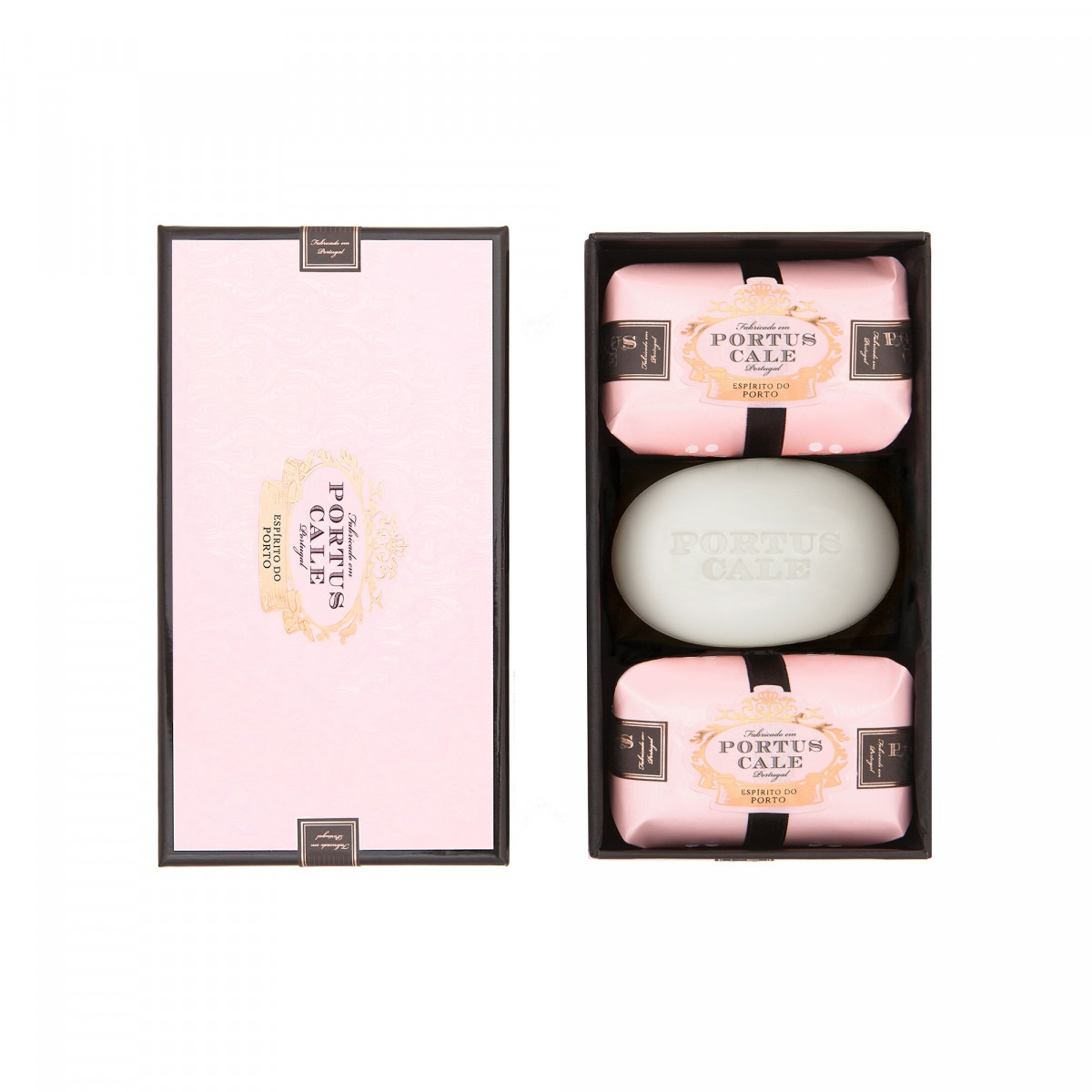 Portus Cale Rose Blush 3x150g Box of Soaps