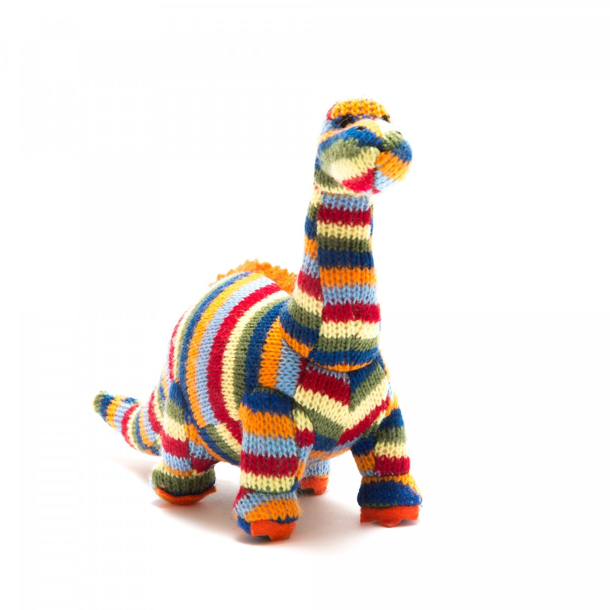 Stripy Diplodocus Soft Knitted Toy
