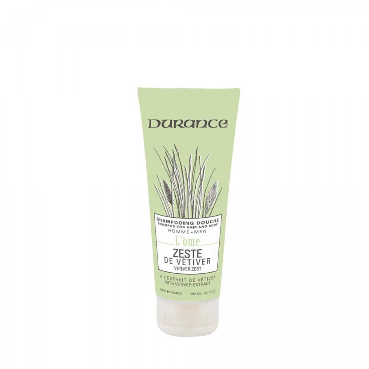 Durance L'Ome Vetiver Zest Hair & Body Shampoo 200ml