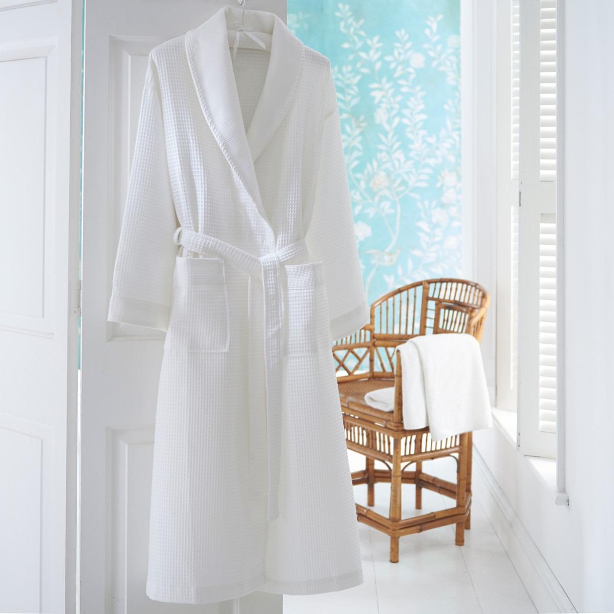 White Waffle Robe