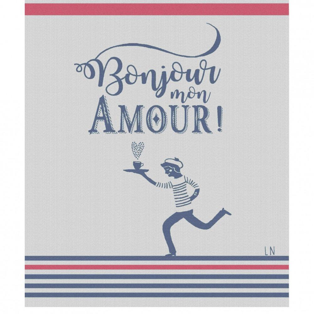 Moutet Tea Towel Bonjour Mon Amour