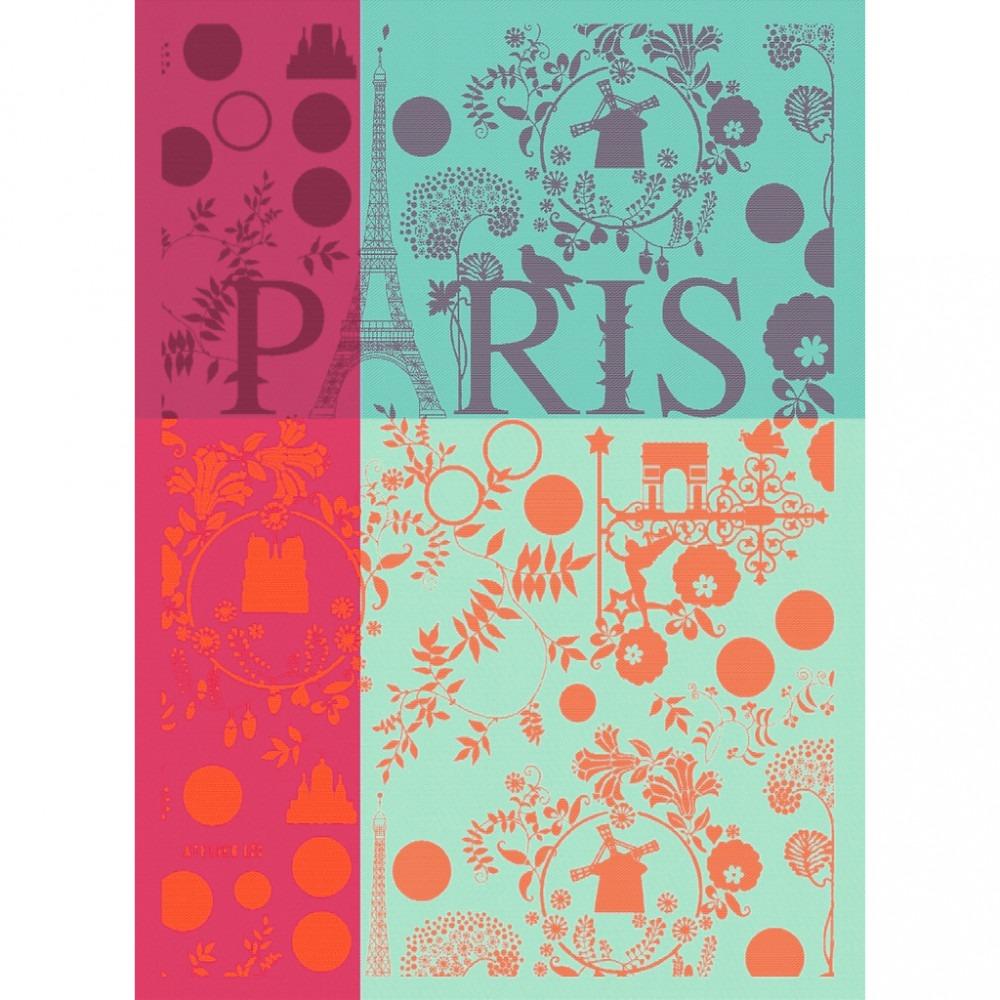 Moutet Tea Towel Paris Tour Eiffel