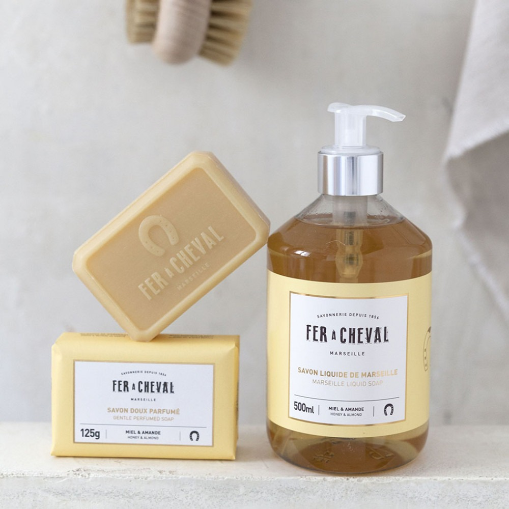 Fer A Cheval Honey & Almond Marseille Liquid Soap 500ml