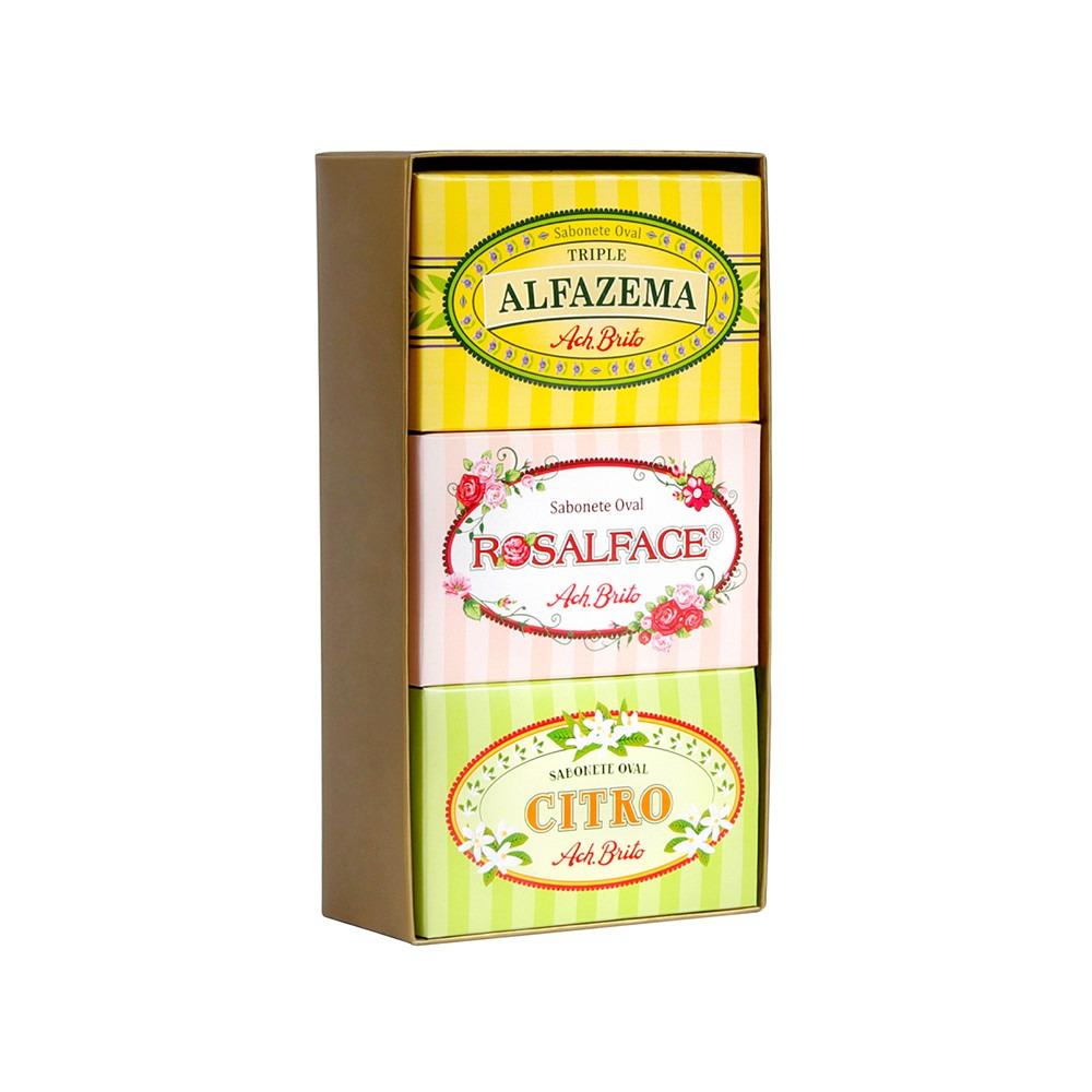 Ach Brito Alfazema/Rosalface/Citro Gift Box 3 x 150g