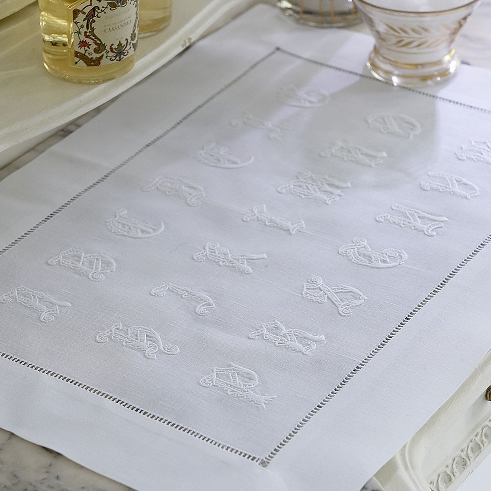 Alphabet Linen Dressing Table Mat