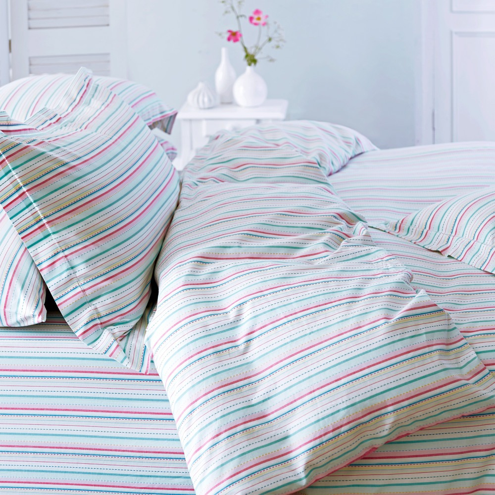 Amalfi Stripey Pure Cotton Bed Linen
