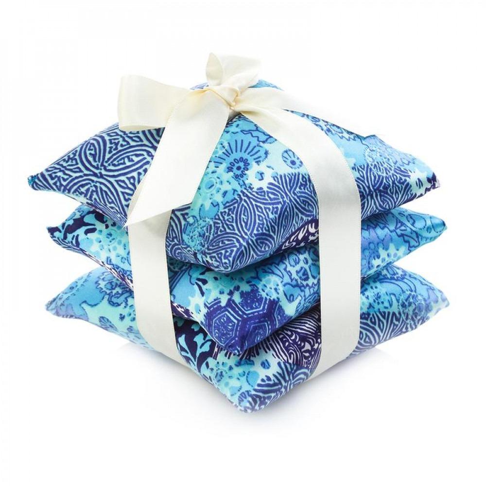 ElizabethW Aqua Origami Silk Scented Sachet Set