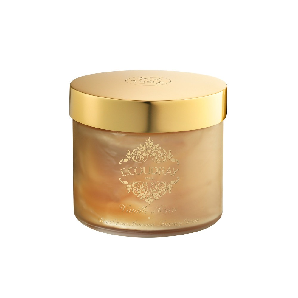 E. Coudray bath mousse glass jar vanille et coco 250ml