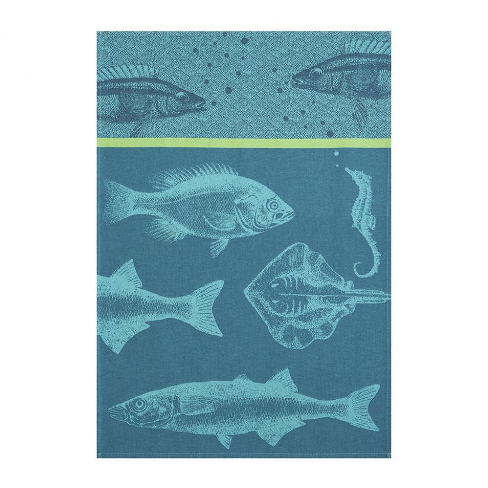 Tea Towel - Poissons Bleu