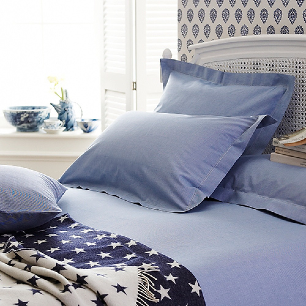 Children's Blue Dogtooth Bedlinen