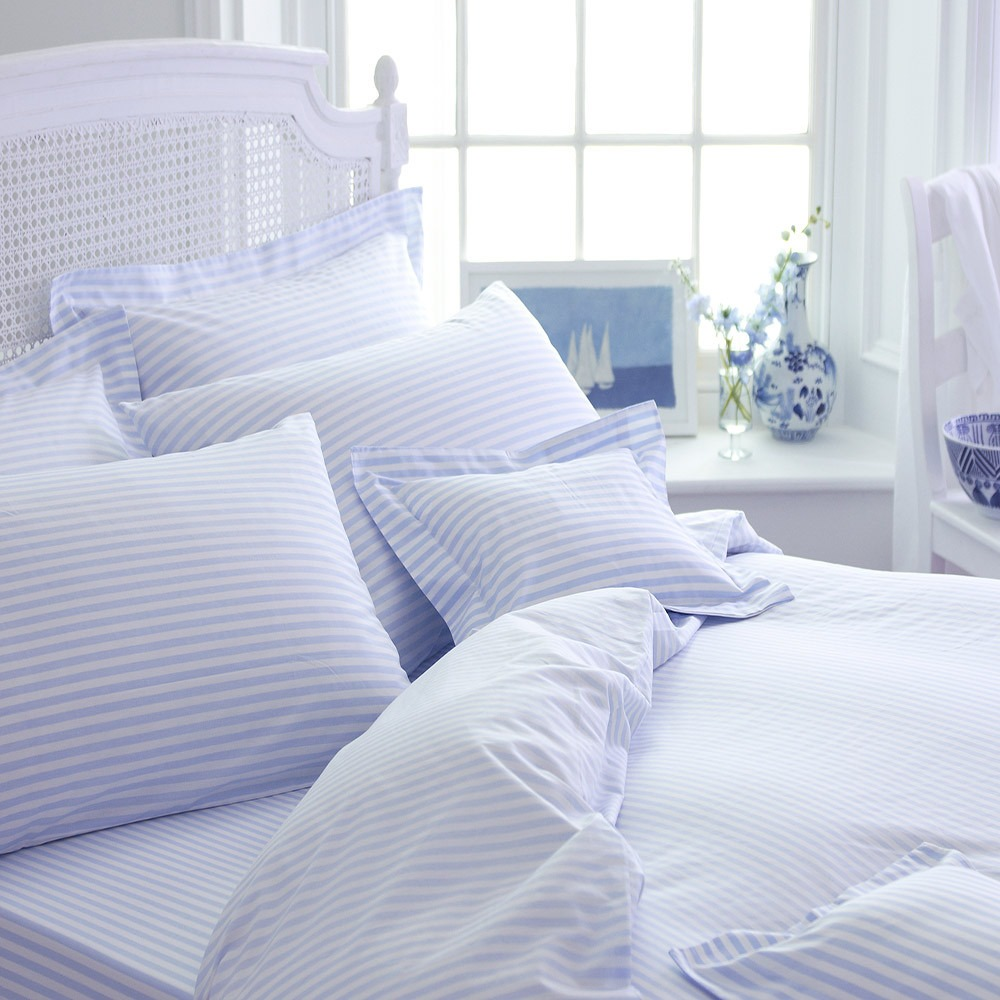 Blue Candy Stripe Bedlinen