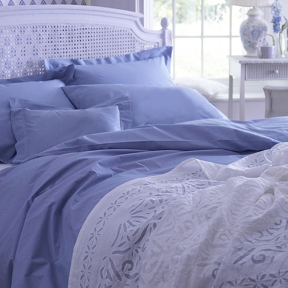 Blue Dogtooth Bedlinen