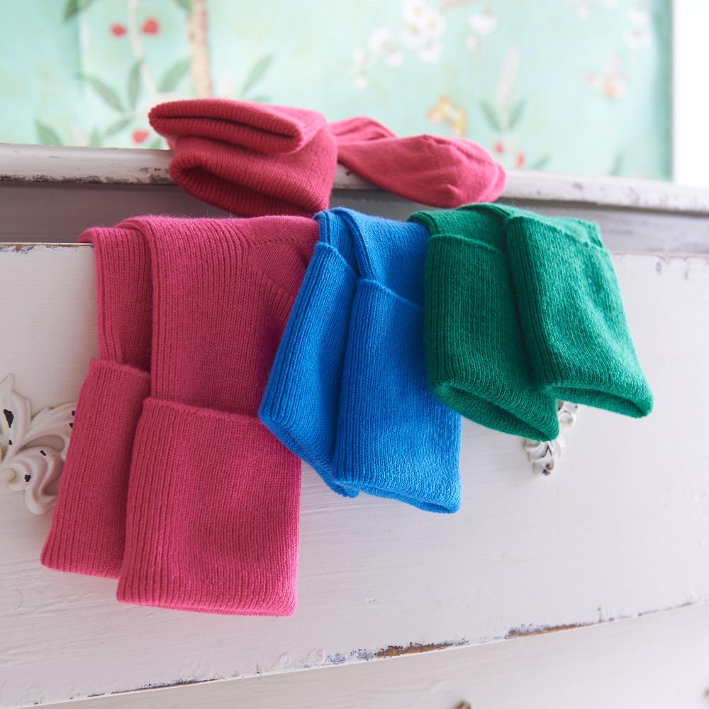 Bright Coloured Cashmere Socks