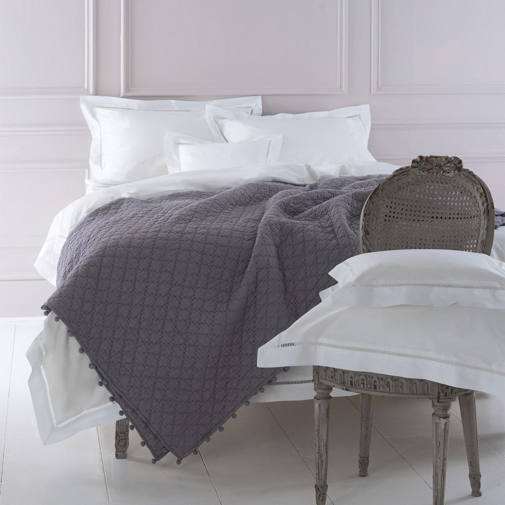 Brigitte 200 thread count white cotton bedlinen