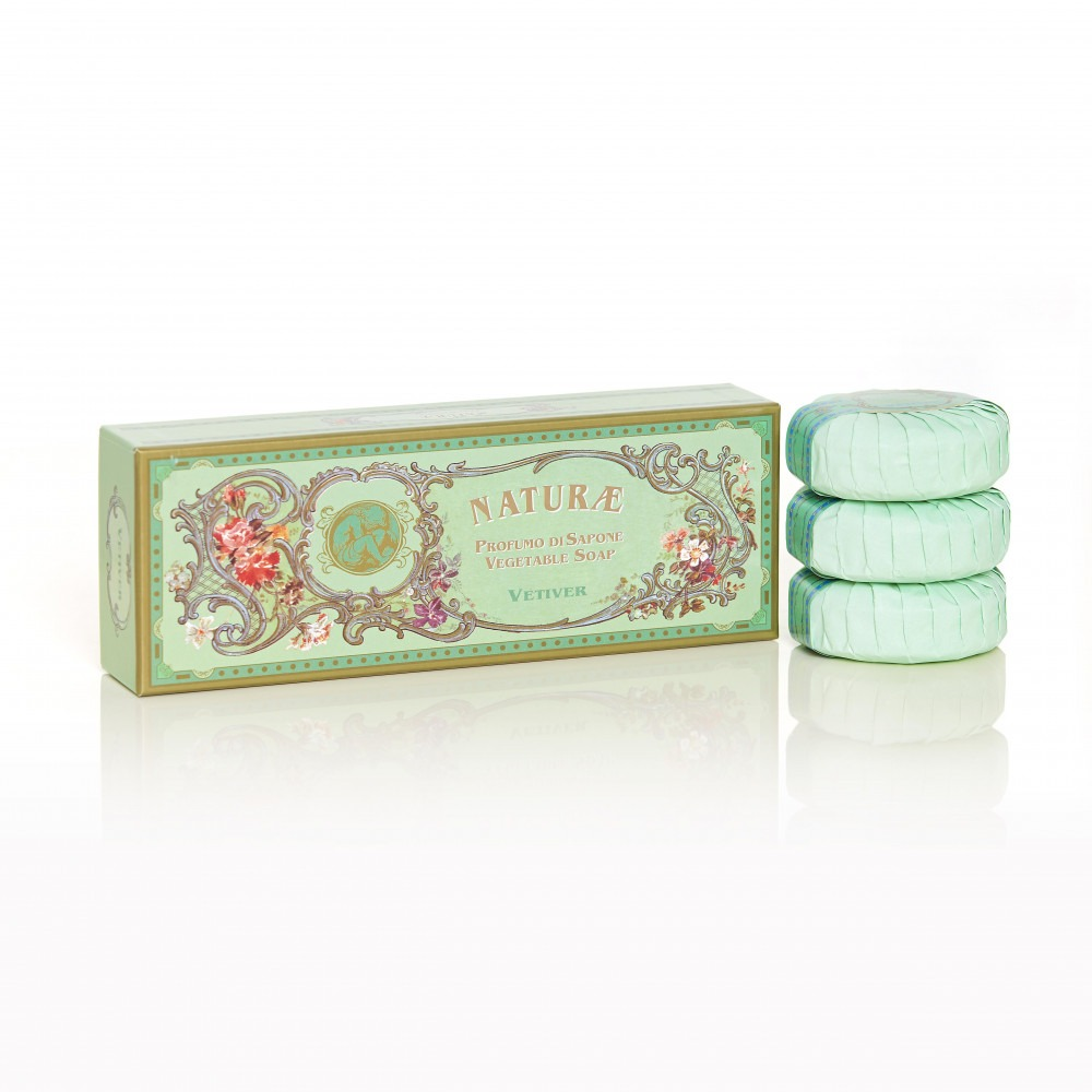 Naturae By Franco Zarri Vetiver Box Of 3 Soaps