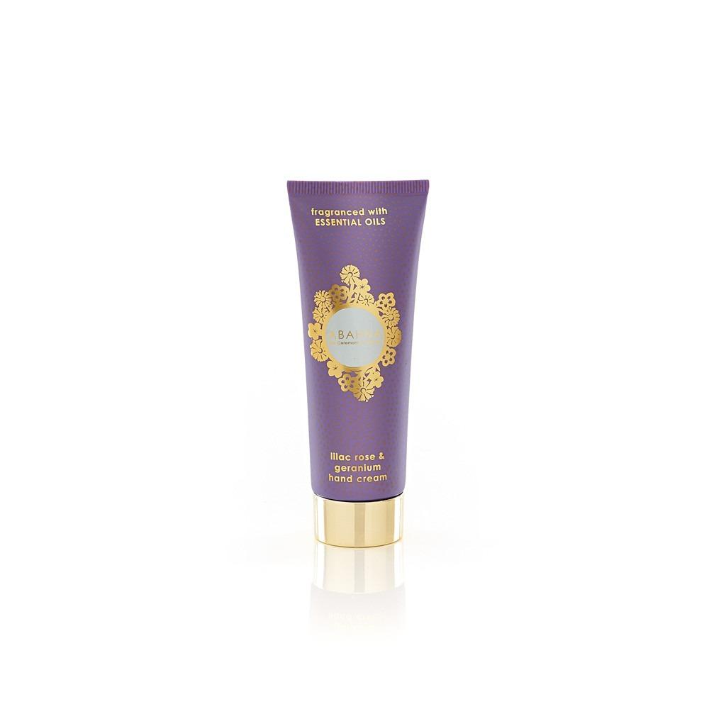 Abahna lilac rose & geranium hand cream 50ml