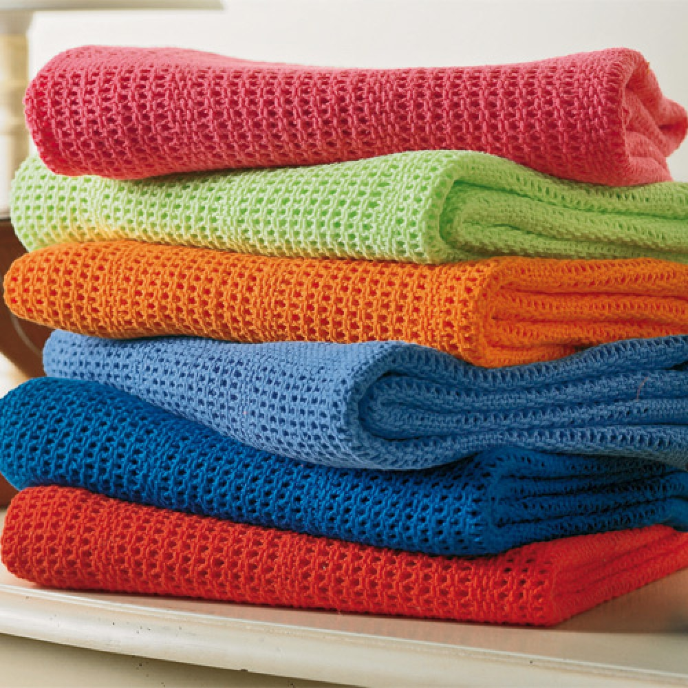Cellular Brights Pram Blanket