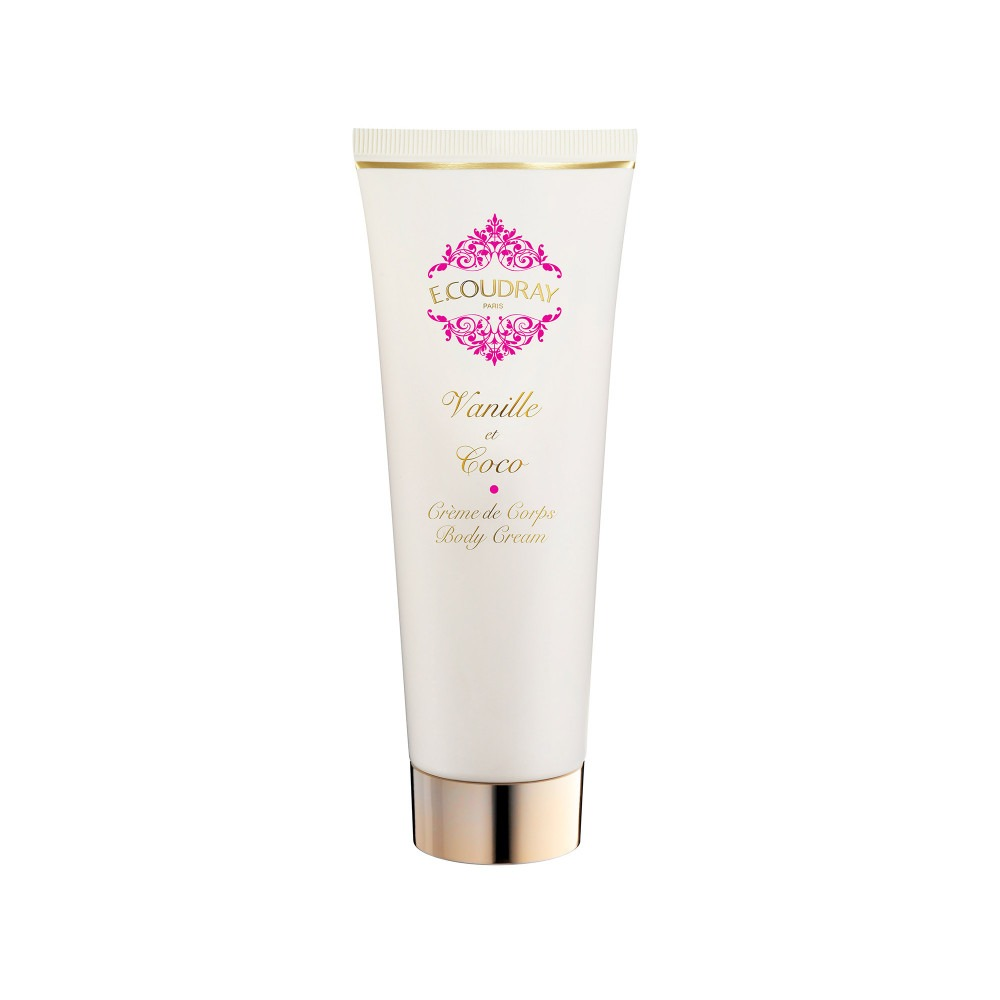 E. Coudray body cream tube vanille et coco 125ml