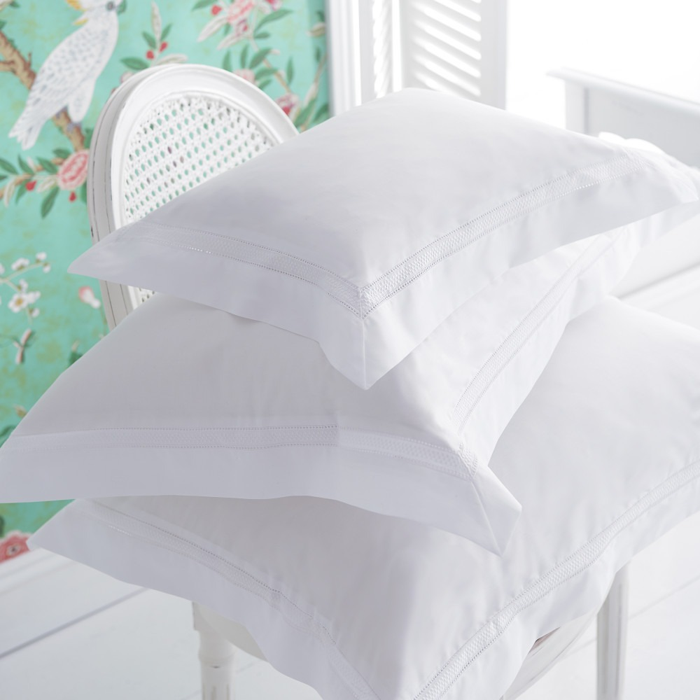 Delphine White Embroidered Bedlinen