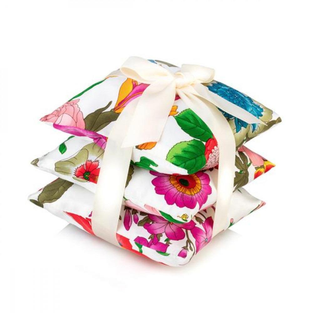 ElizabethW Floral Blush Silk Scented Sachet Set