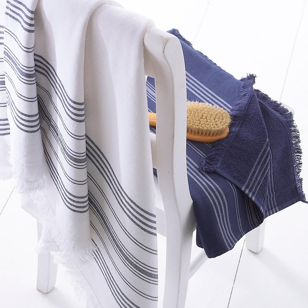 Navy & White Hamam Towels