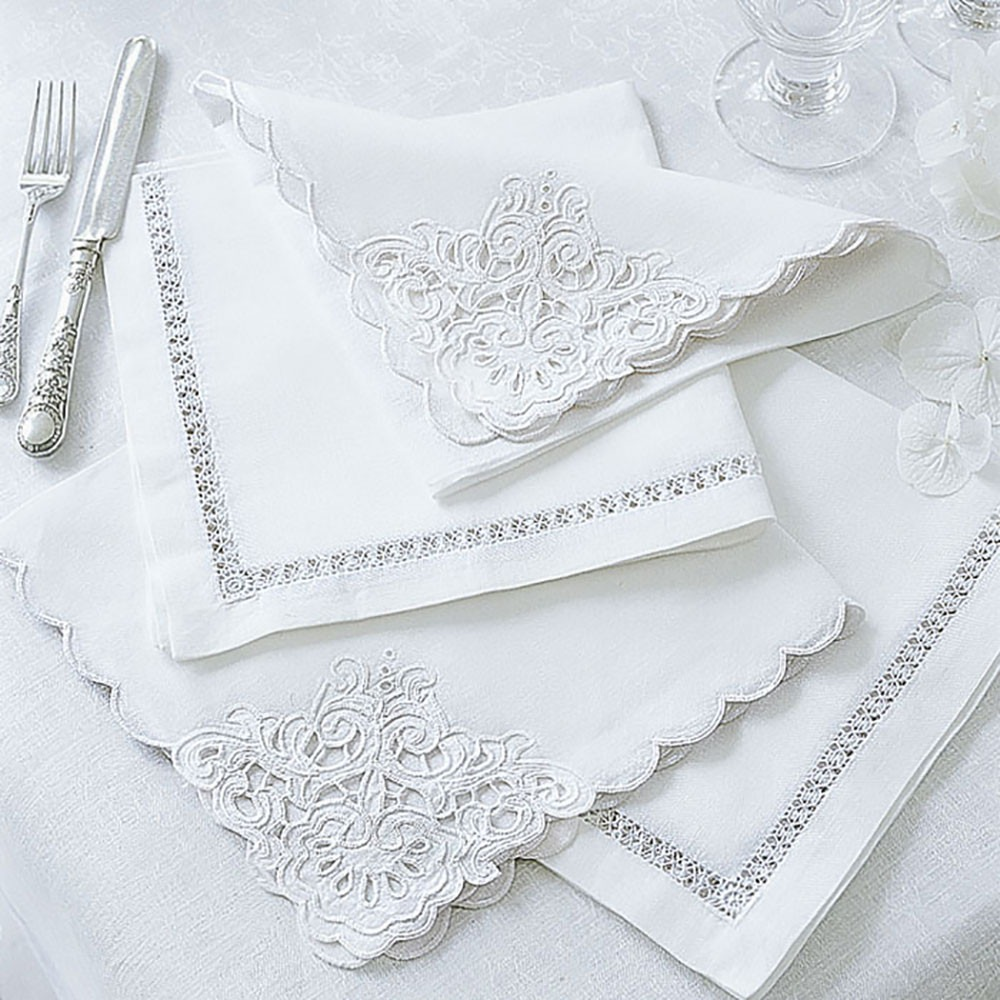 Linen & Cotton Mix Embroidered Napkins
