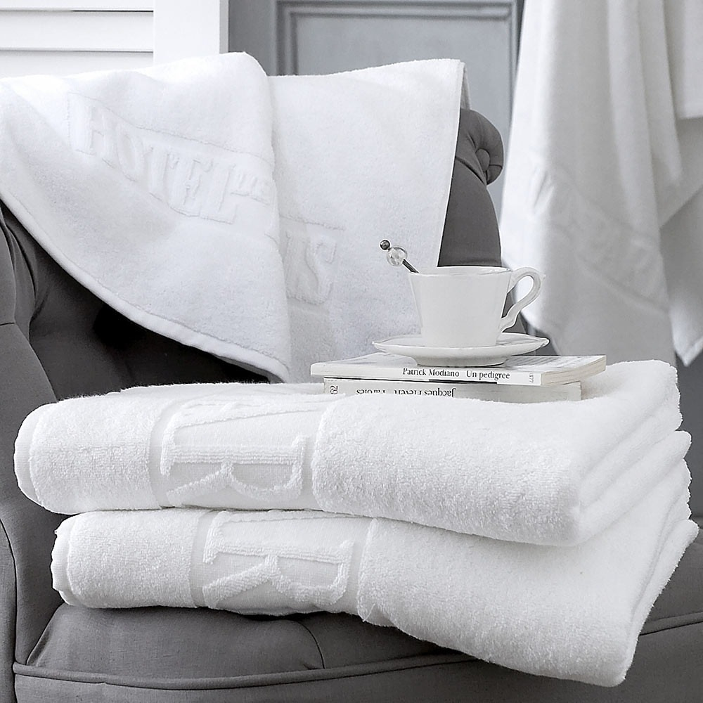 Hotel De Paris White Cotton Towels