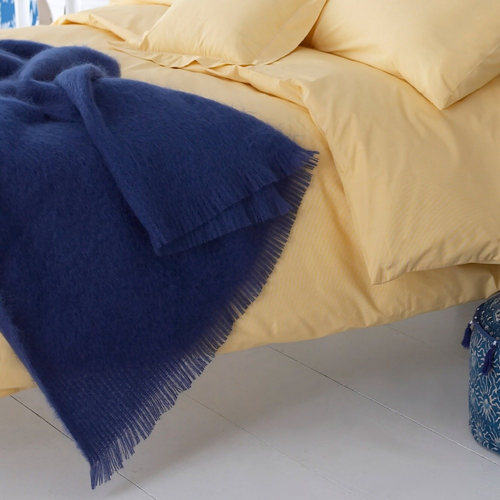 Mohair Throw Indigo