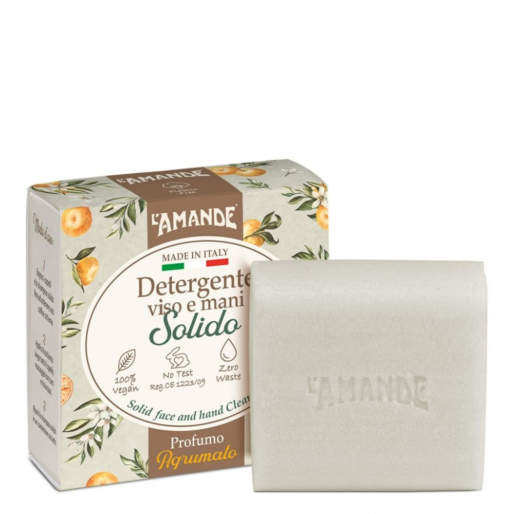 L'Amande Solid Face And Hand Cleanser
