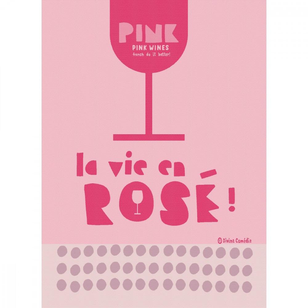 Moutet Tea Towel La Vie En Rosé