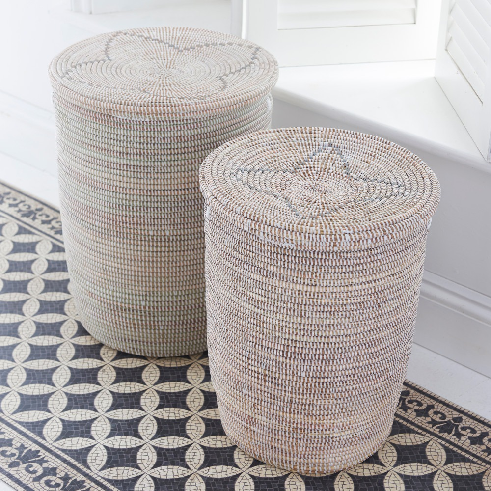 Natural Hand Woven Laundry Baskets Pixel