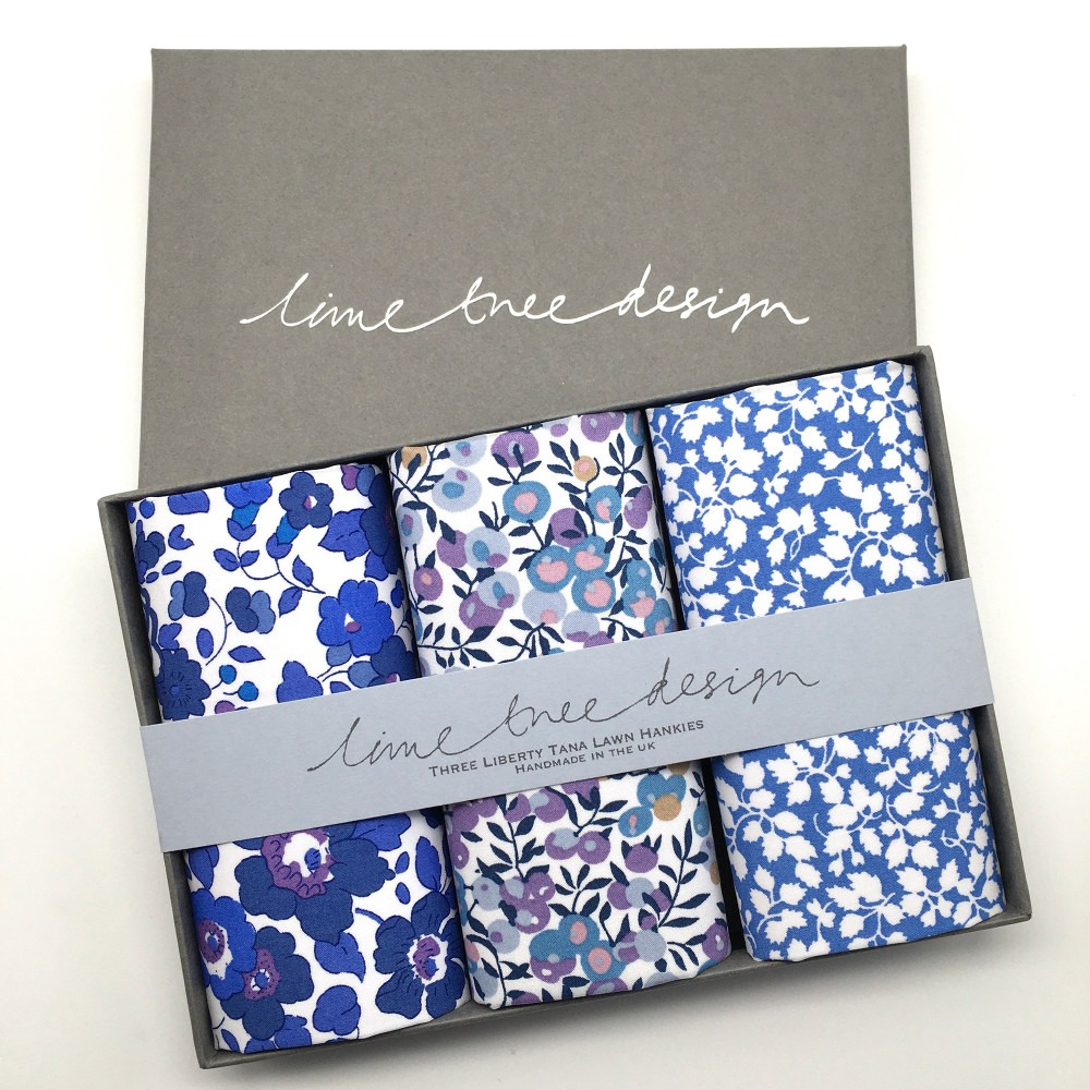 Blue Note Set of 3 Liberty Print Cotton Handkerchiefs